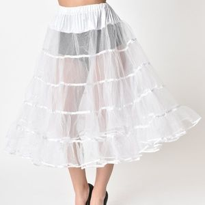 Unique Vintage 1950's Style White Petticoat
